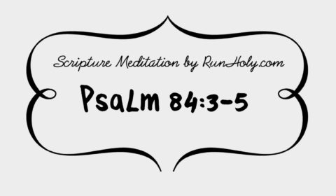 Scripture meditation by RunHoly psalm 84 verse 3-5, RunHoly.com